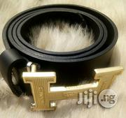 Hermes Black Leather Belt   Clothing Accessories for sale in Lagos State, Lagos Mainland