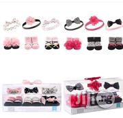 Pairs of Baby Booties and Head Band | Children's Shoes for sale in Lagos State, Ikeja