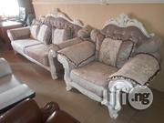 Exotic Unique Strong Complete Set Of 7 Seater Fabric Sofa Chair | Furniture for sale in Lagos State, Lekki Phase 1