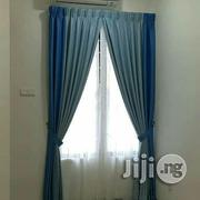 Blue an Cream Curtains   Home Accessories for sale in Lagos State, Lagos Island