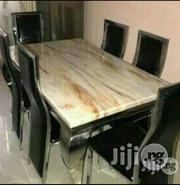 Quality Marble Dining Table With Six Strong Y | Furniture for sale in Lagos State, Lekki Phase 1