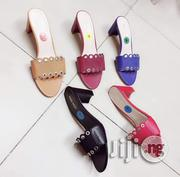 Classic Designer Block Heel Slippers   Shoes for sale in Lagos State, Surulere