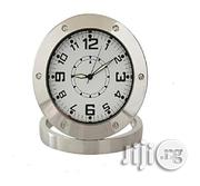 Universal Round Shaped Surveillance Hidden Camera Clock With Camera- Silver | Security & Surveillance for sale in Lagos State, Ikeja