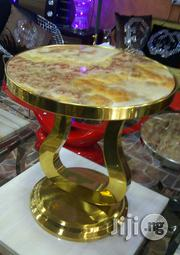 Marble Stool, Gold. | Furniture for sale in Abuja (FCT) State, Maitama