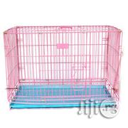 Large Folding Metal Pet Cage Kennel With Tray | Farm Machinery & Equipment for sale in Lagos State, Ojodu