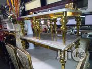Quality Golden Marble Dining Table And Center Table | Furniture for sale in Lagos State