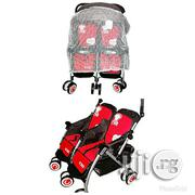 Universal Two In One Double Stroller- Red And Black | Prams & Strollers for sale in Abuja (FCT) State, Gwagwalada