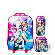 3 In 1 Set Frozen Character Trolley School Bag Pack Set | Babies & Kids Accessories for sale in Lagos State, Lagos Island