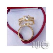 Fashion Platinum Gold Plated Wedding Ring Set | Wedding Wear for sale in Lagos State, Surulere