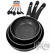 3 PCS Non Stick Frying Pans PLUS Set of Spoons | Kitchen & Dining for sale in Lagos State, Lagos Mainland