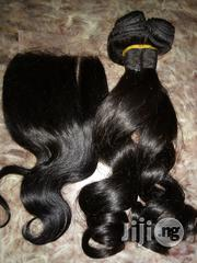 14 Inches Bouncing Curls Human Hair With Closure | Hair Beauty for sale in Lagos State
