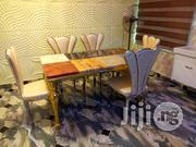Marble Top Dining Table by 6 | Furniture for sale in Abuja (FCT) State, Nyanya