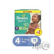 Pampers Baby Dry Diapers, Size 4, Value Promo Pack (X 2) (Total 72 Count) | Baby & Child Care for sale in Lagos State, Oshodi-Isolo