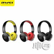 Awei Foldable Hi-fi Stereo Wireless Headphones A500BL | Headphones for sale in Lagos State, Ikeja