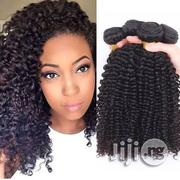 16 Inches Kinky Malaysian Curls With Closure | Hair Beauty for sale in Lagos State, Ojodu