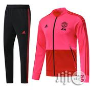 Manchester United Training Presentation Tracksuit - Pink | Clothing for sale in Lagos State, Lagos Mainland