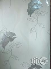 White Flowered Quality European Wallpaper-5.3sqm | Home Accessories for sale in Lagos State, Yaba