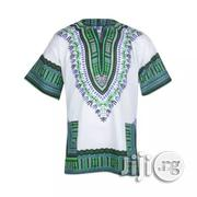 African Print Traditional Danshiki - White Green | Clothing for sale in Lagos State, Lagos Island