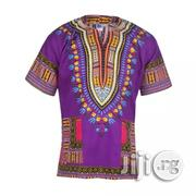 African Print Traditional Danshiki - Purple | Clothing for sale in Lagos State, Lagos Island