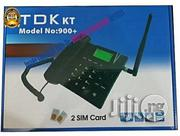 DUAL SIM CARD GSM Desktop Phone. It Accepts All Nigeria Network | Home Appliances for sale in Lagos State, Ikeja