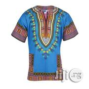 African Print Traditional Danshiki - Blue | Clothing for sale in Lagos State, Lagos Island