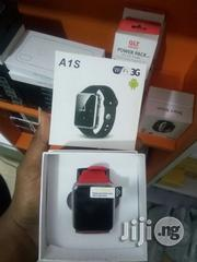 Full Android OS A1S Smartwatch - Black | Smart Watches & Trackers for sale in Lagos State, Oshodi-Isolo
