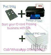 Plastic ID Card Printing Machine + 235pcs Cards + Tray | Printing Equipment for sale in Lagos State, Alimosho
