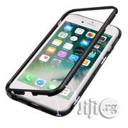 Magnetic Adsorption Metal Case, Hard Clear Tempered Glass Back Iph 7/8   Accessories for Mobile Phones & Tablets for sale in Lagos State, Ikeja