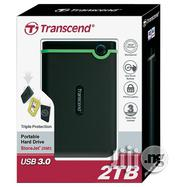 Transcend Storejet 2 TB USB 3.0 Portable External Hard Drive | Computer Hardware for sale in Lagos State, Ikeja