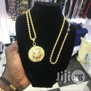 Designers Neck and Pendant Cuban Gold Chain | Jewelry for sale in Lagos State, Ojo