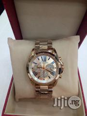 Micheal Kors Brand New Chronograph Rose Gold-Tone Wrist Watch | Watches for sale in Lagos State, Ikeja