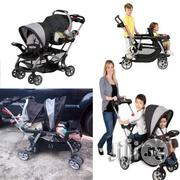 Tokunbo UK Used Baby Trend Sit And Stand Stroller With Car Seat For 2 Kids | Prams & Strollers for sale in Lagos State, Lagos Mainland