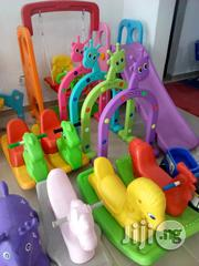 Playground Slid And Plastic Horse | Toys for sale in Lagos State, Ikeja
