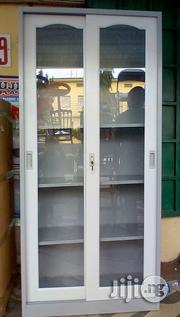 Brand New Imported Metal Book Shelves With Glass Double Door | Furniture for sale in Lagos State, Lagos Mainland