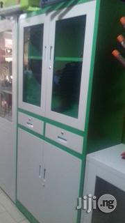 Half Glass Half Metal With Middle Drawer | Furniture for sale in Lagos State, Lekki Phase 1