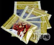 10 X 15cm Gold Window Ziplock Flat Bottom Pouch With Flower Printing | Computer Accessories  for sale in Lagos State, Lagos Mainland