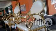 Gold and White Console | Furniture for sale in Rivers State, Port-Harcourt