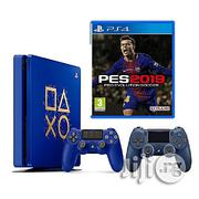 Sony Playstation 4 Slim 500GB Console Limited Edition + Pro Evolution Soccer 2019 Game- PES 19 | Video Game Consoles for sale in Lagos State, Lagos Island