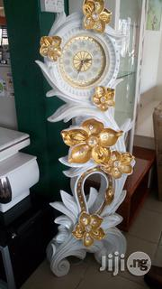 White and Gold Standing Clock   Home Accessories for sale in Lagos State, Ojo