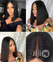 100% Staight Human Hair, Double Drawn Wig With Kim K Deep Part Closure | Hair Beauty for sale in Lagos State, Ikeja