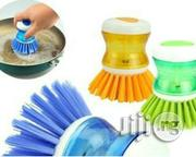 3 Pcs Palm Dish Brush With Liquid Soap Dispenser | Home Accessories for sale in Lagos State, Ibeju