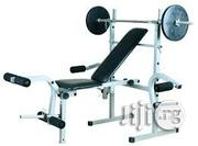 New Weight Lifting Bench With 50kg Weight | Sports Equipment for sale in Lagos State, Surulere