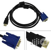 HDMI To VGA Cable 15pin Adapter Male To Male 1024 X 768p Fast Transfer Rate | Accessories & Supplies for Electronics for sale in Lagos State, Ikeja