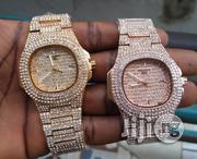 Men's Patek Philippe Nautilus Full Iced Out Chain Wrist Watch - Gold | Watches for sale in Lagos State, Ikeja