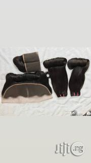100% Magic Virgin Human Hair With Frontal 14inches   Hair Beauty for sale in Lagos State, Ojo