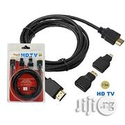 3 In 1 1.5M High Speed HDTV Or HDMI Cable | Accessories & Supplies for Electronics for sale in Lagos State, Ikeja