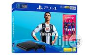 Sony PS4 500GB + FIFA 19 Bundle - Jet Black | Video Game Consoles for sale in Oyo State, Ibadan