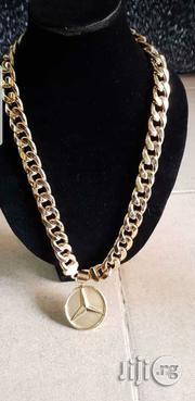 18carat Gold Cuban Chain and Benz Pendant | Jewelry for sale in Lagos State, Yaba