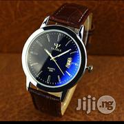 Men's Analog Quartz Watch - Silver And Brown | Watches for sale in Lagos State, Alimosho