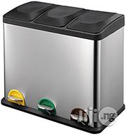 3 In 1 Stainless Steel Recycling Recycle Pedal Bin - Uk   Home Accessories for sale in Lagos State